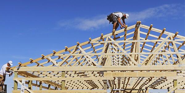 Bob on a wood truss